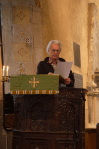 Poetry Reading - church-warden Chris Newman