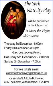 Aldermaston's 2015 York Nativity Play