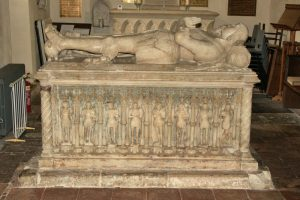 Sir George Foster and wife, Aldermaston St Marys
