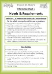Needs & Requirements - side 1