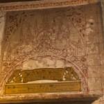 Decorative painting around a memorial plaque