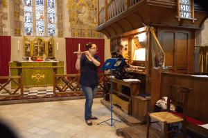 Impromptu organ and flute recital