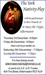 Aldermaston's 2015 York Nativity Play