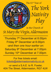 2017 Aldermaston York Nativity Play